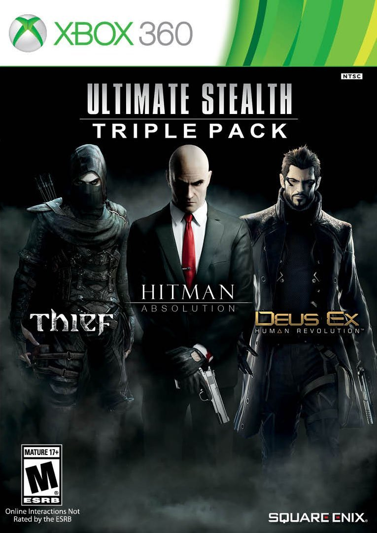 Thief, Deus Ex: Human Revolution, Hitman: Absolution Ultimate Stealth Triple Pack (Xbox 360)