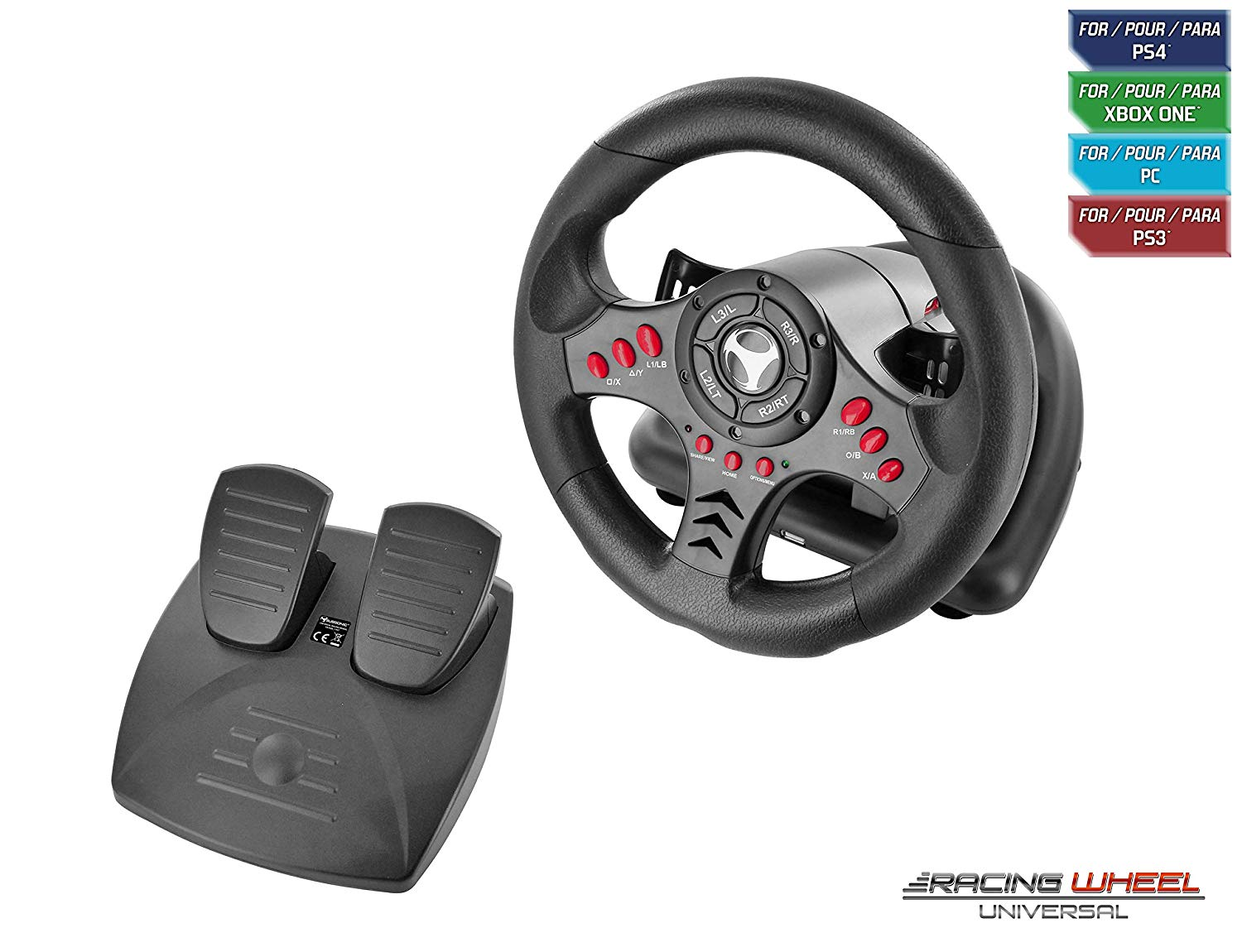 Руль Subsonic SA5426 Racing Wheel Universal with Pedals (Playstation 4, PS4 Slim, PS4 Pro, Xbox One, Xbox One S, PS3)