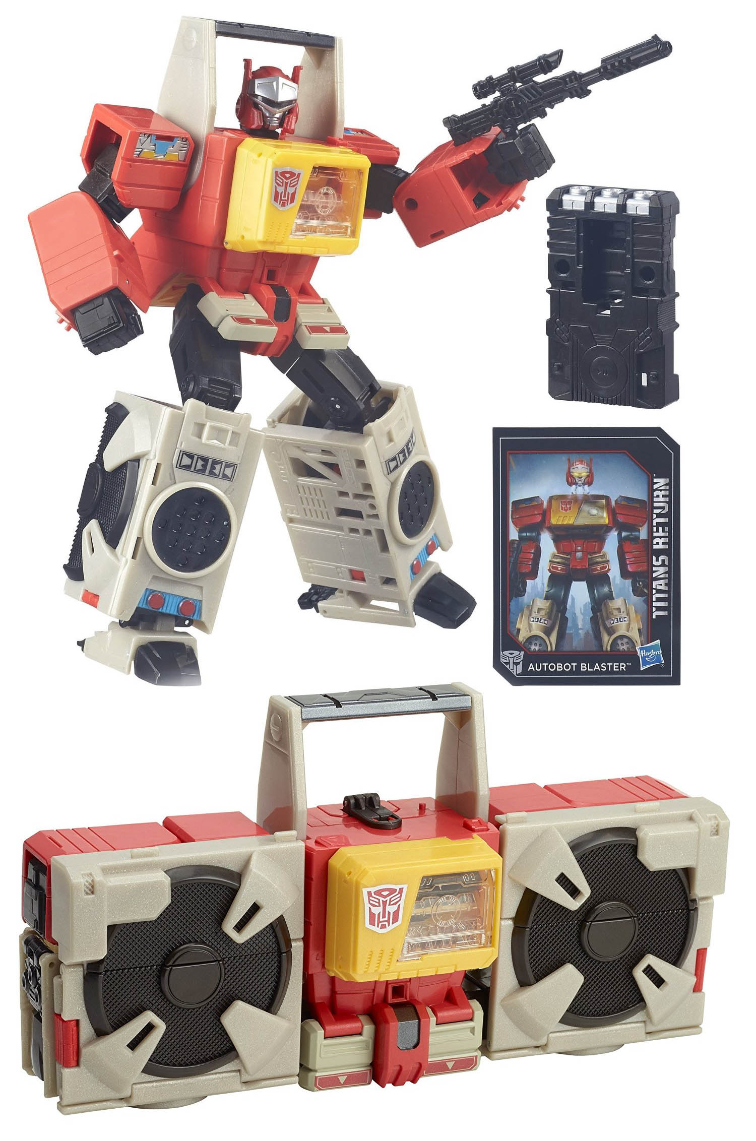 Transformers Generations Titans Return Leader Class Autobot Blaster and Twin Cast