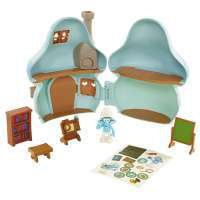 Игровой набор Смурфик Умник с домиком (Smurfs The Lost Village Mushroom House Playset with Brainy Smurf Figure) 2
