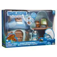 Игровой набор Смурфик Умник с домиком (Smurfs The Lost Village Mushroom House Playset with Brainy Smurf Figure) 4