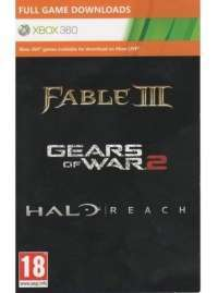 Halo Reach, Gears Of War 2, Fable 3 (Xbox 360) (Код на скачивание)
