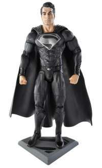 Man of Steel Movie Masters Superman with Black Suit