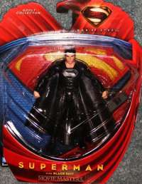 Man of Steel Movie Masters Superman with Black Suit #1